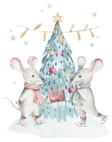 Christmas holiday mouse