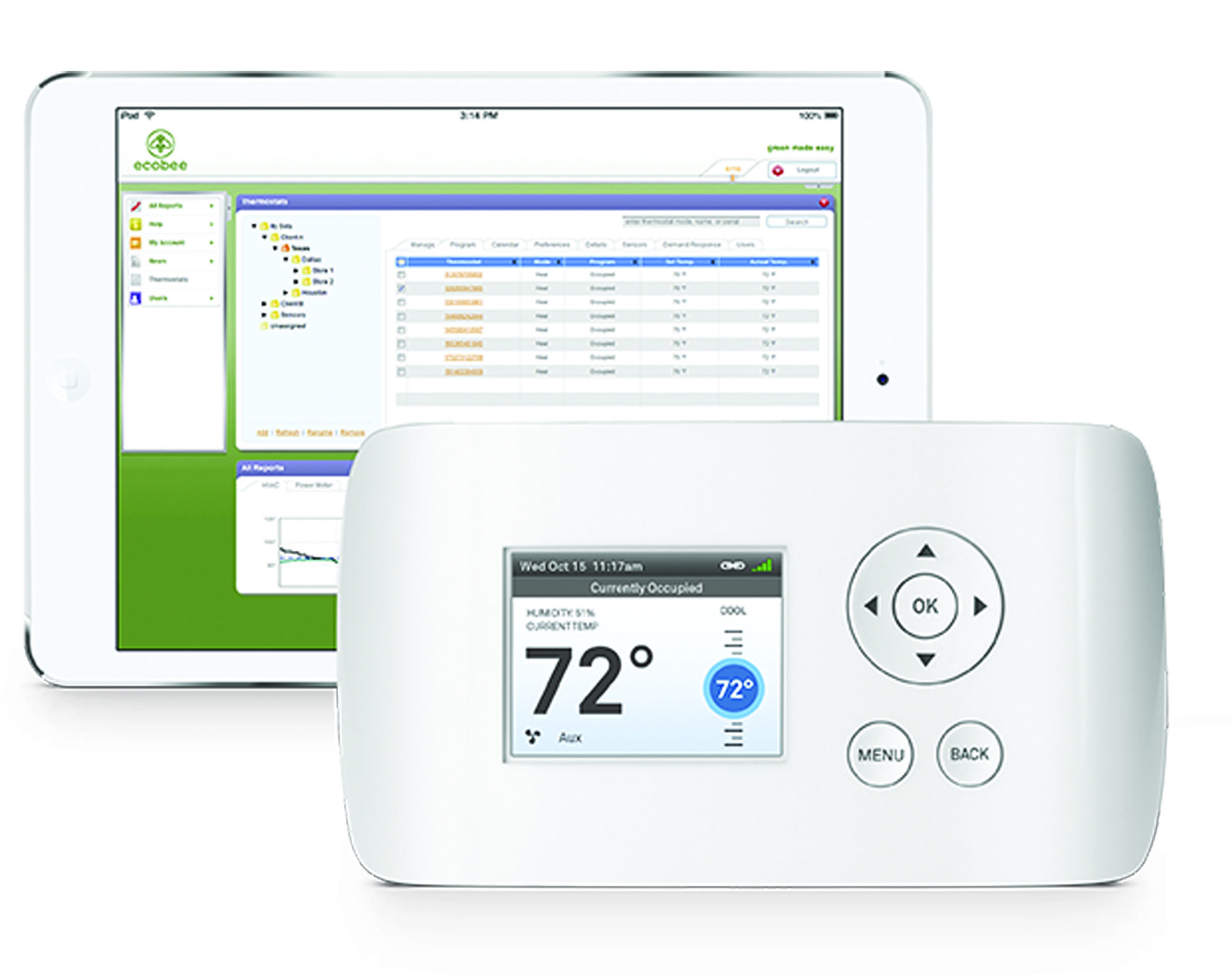 EcobeeEMS thermostat